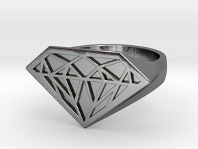 RUBINI Ring in Polished Silver