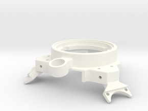Effector 25mm High With Fan in White Strong & Flexible Polished