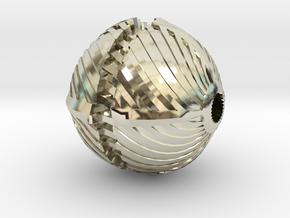 Spiral Bead in 14k White Gold