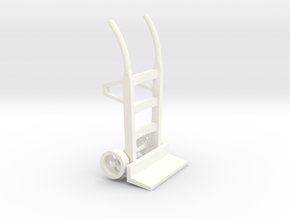 S1-282   Sackkarre Holz  in White Processed Versatile Plastic