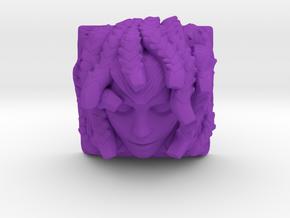 Medusa Keycap (Topre DSA) in Purple Processed Versatile Plastic