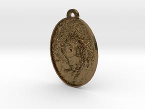 Hurricane Eye Earring in Natural Bronze