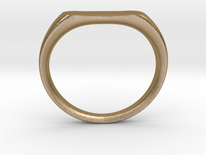 Ring - Personalized Occasion in Polished Gold Steel