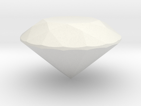 Perfect Proportion Diamond - Tolkowsky in White Natural Versatile Plastic