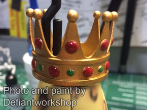 Animal King Crown in Smooth Fine Detail Plastic