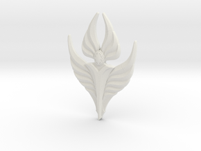 Fire Angel Pendant 02 - 60mm in White Natural Versatile Plastic