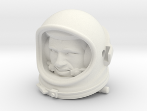Gemini Astronaut / 1:6 / Helmet, Head Nr 2 in White Strong & Flexible