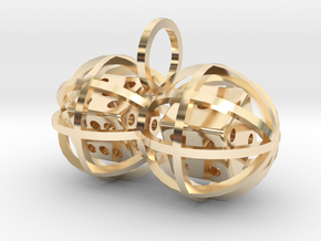 Charm: Lucky Balls (b) in 14k Gold Plated Brass