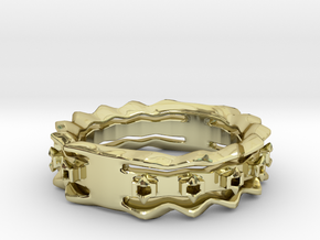 Wave Ring Size8 in 18k Gold