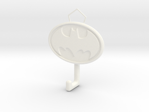 Batman Logo hook in White Processed Versatile Plastic