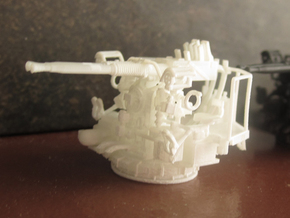 1/100 40mm Bofors Twin Mount USN WWII ships FUD in Smooth Fine Detail Plastic