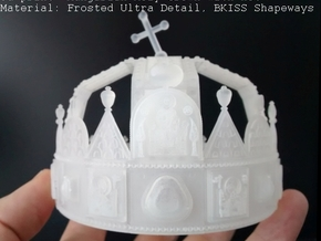 Hungarian Holy Crown - half scale in Smooth Fine Detail Plastic