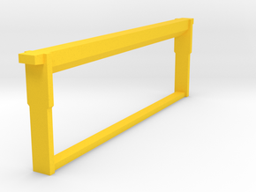 Medium Frame Foundationless 1/8 scale in Yellow Strong & Flexible Polished