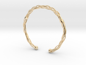 Plastic twist wrist band (M) in 14K Yellow Gold