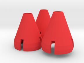 Gorilla Hands - 3 Cones in Red Processed Versatile Plastic