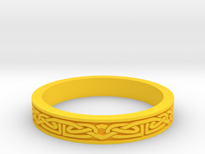 Celtic Ring 01. Size 27mm Diammeter in Yellow Strong & Flexible Polished