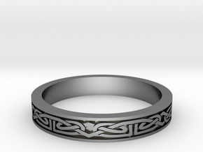 Celtic Ring 01. Size 27mm Diammeter in Polished Silver