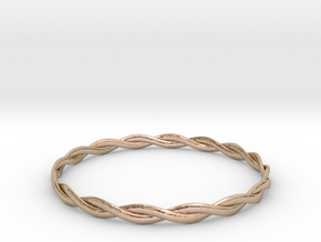 Double Twist Bangle in 14k Rose Gold Plated Brass