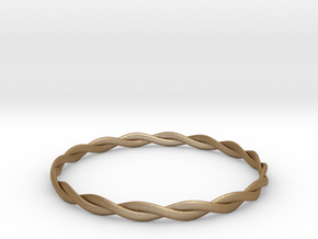 Double Twist Bangle in Matte Gold Steel
