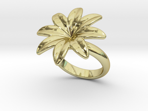 Flowerfantasy Ring 28 - Italian Size 28 in 18k Gold Plated Brass