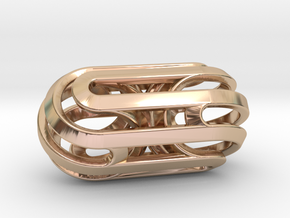 Sphericon Fission in 14k Rose Gold Plated Brass