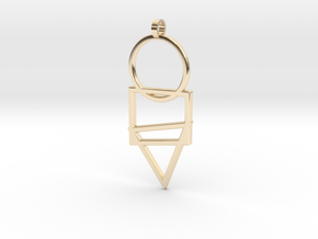 Cisqutri Pendant in 14k Gold Plated Brass