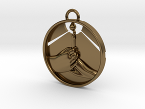 """Love Shares the Light"" Pendant in Polished Bronze"
