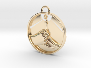 """""""Love Shares the Light"""" Pendant in 14K Yellow Gold"""