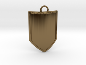 Shield 3 Pendant in Polished Bronze