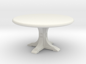 Cafe table, round. 1:48 scale. in White Natural Versatile Plastic