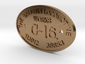 "3/4"" Scale C-16 Builders Plate in Raw Brass"
