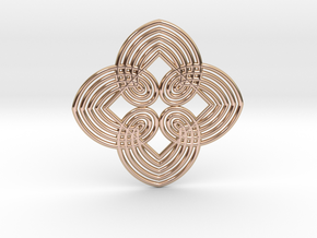 0557 Motion Of Points Around Circle (5cm) #034 in 14k Rose Gold Plated Brass