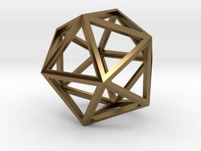 Icosahedron Pendant in Polished Bronze