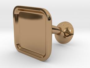 Custom Cufflink #02 - Square in Polished Brass