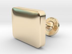 Custom Cufflink #04 - Rectangular in 14k Gold Plated Brass