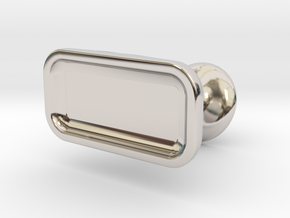 Custom cufflink #05 - Flat in Rhodium Plated Brass