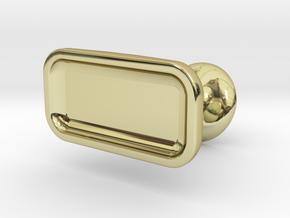 Custom cufflink #05 - Flat in 18K Gold Plated