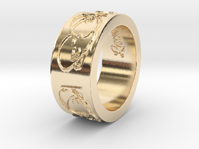 'Beautiful Love' Ring--look great on a chain! in 14K Yellow Gold: 6.5 / 52.75