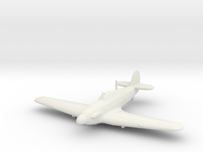 Hawker Hurricane Mk.IIb in White Natural Versatile Plastic: 1:200