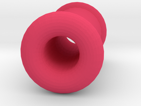 4 gauge (5mm) Double Flare Ear Tunnel  in Pink Processed Versatile Plastic