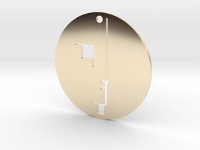 Bauhaus Austelling Pendant in 14k Gold Plated Brass