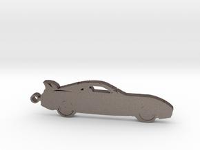 Toyota Supra MK4 keychain in Polished Bronzed Silver Steel