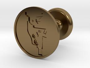Microscope Wax Seal in Polished Bronze
