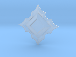 Jeweled Star Empty - 40mm in Smooth Fine Detail Plastic