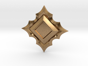 Jeweled Star Empty - 40mm in Natural Brass