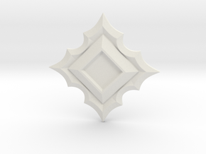 Jeweled Star Empty - 50mm in White Natural Versatile Plastic