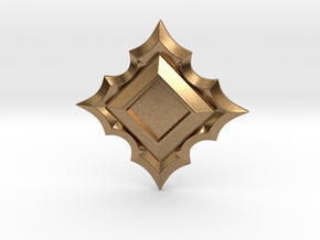 Jeweled Star Empty - 50mm in Natural Brass
