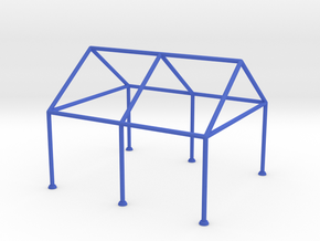 Tent Frame Scale Model reinforced in Blue Strong & Flexible Polished