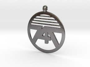 747 Necklace Small in Polished Nickel Steel