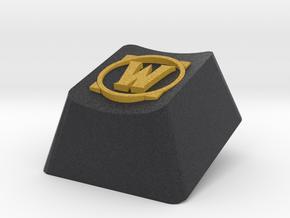 World of Warcraft logo Cherry MX keyboard keycap in Full Color Sandstone